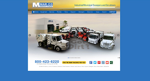 Mar-Co Equipment Industrial/Municipal Sweepers and Scrubbers